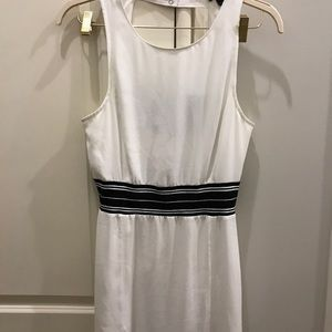 White and black Trouve dress